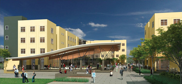 Photo: Wall Hall rendering; the new ballroom is shown prominently in the foreground