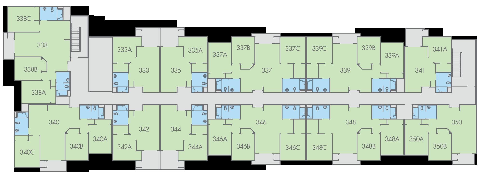 Floor Plan Primero Grove Magnolia Building Third Floor