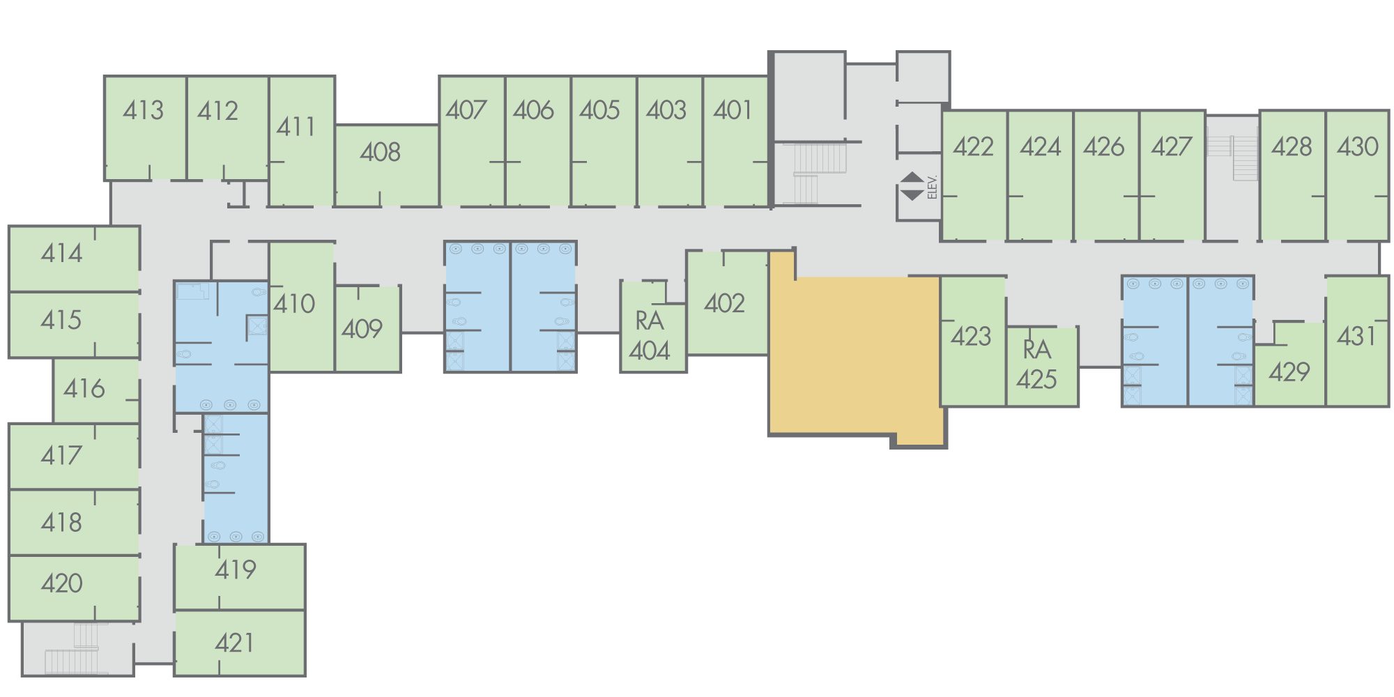 Floor Plan: Campbell Hall, Fourth Floor