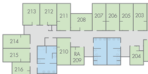 View Campbell Hall floor plans