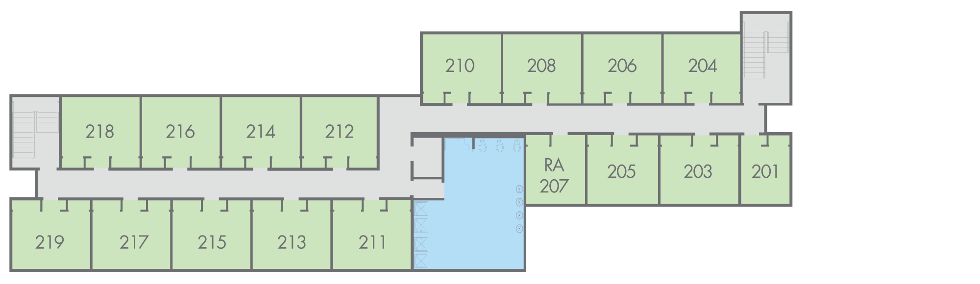 Floor Plan: Regan Hall, Campbo Building, Second Floor