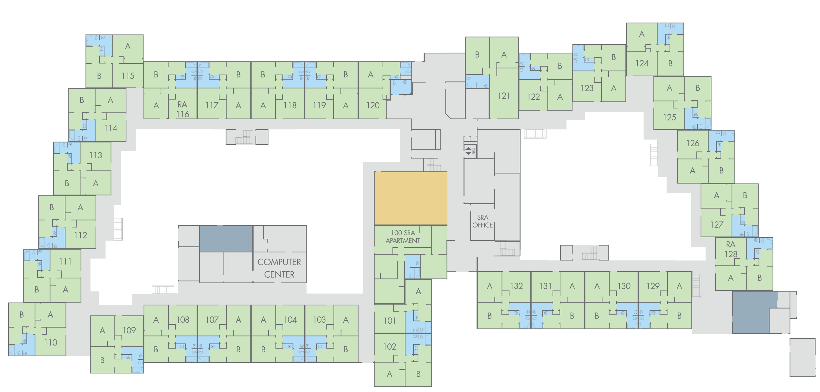 Floor Plan: Emerson Hall, First Floor