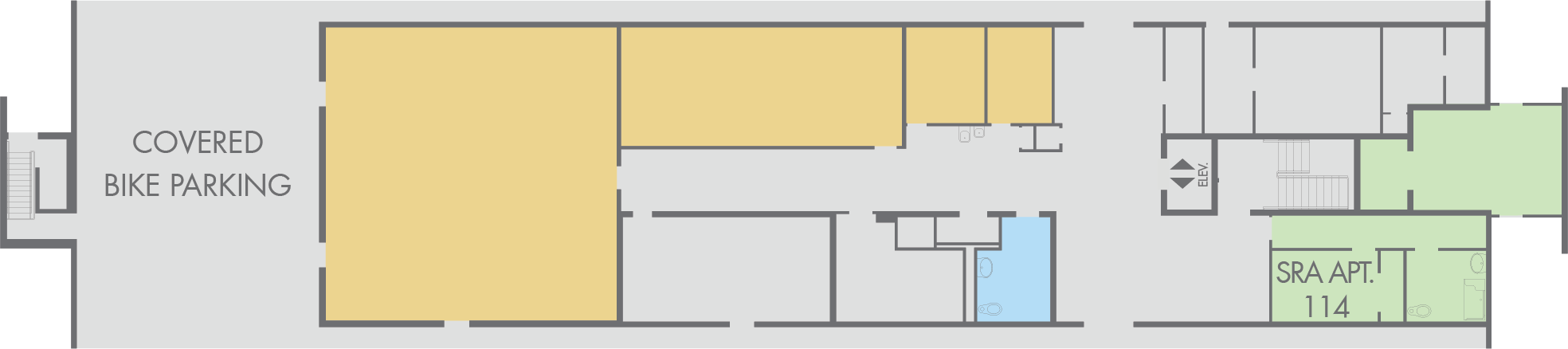 Floor Plan: Gilmore Hall, First Floor