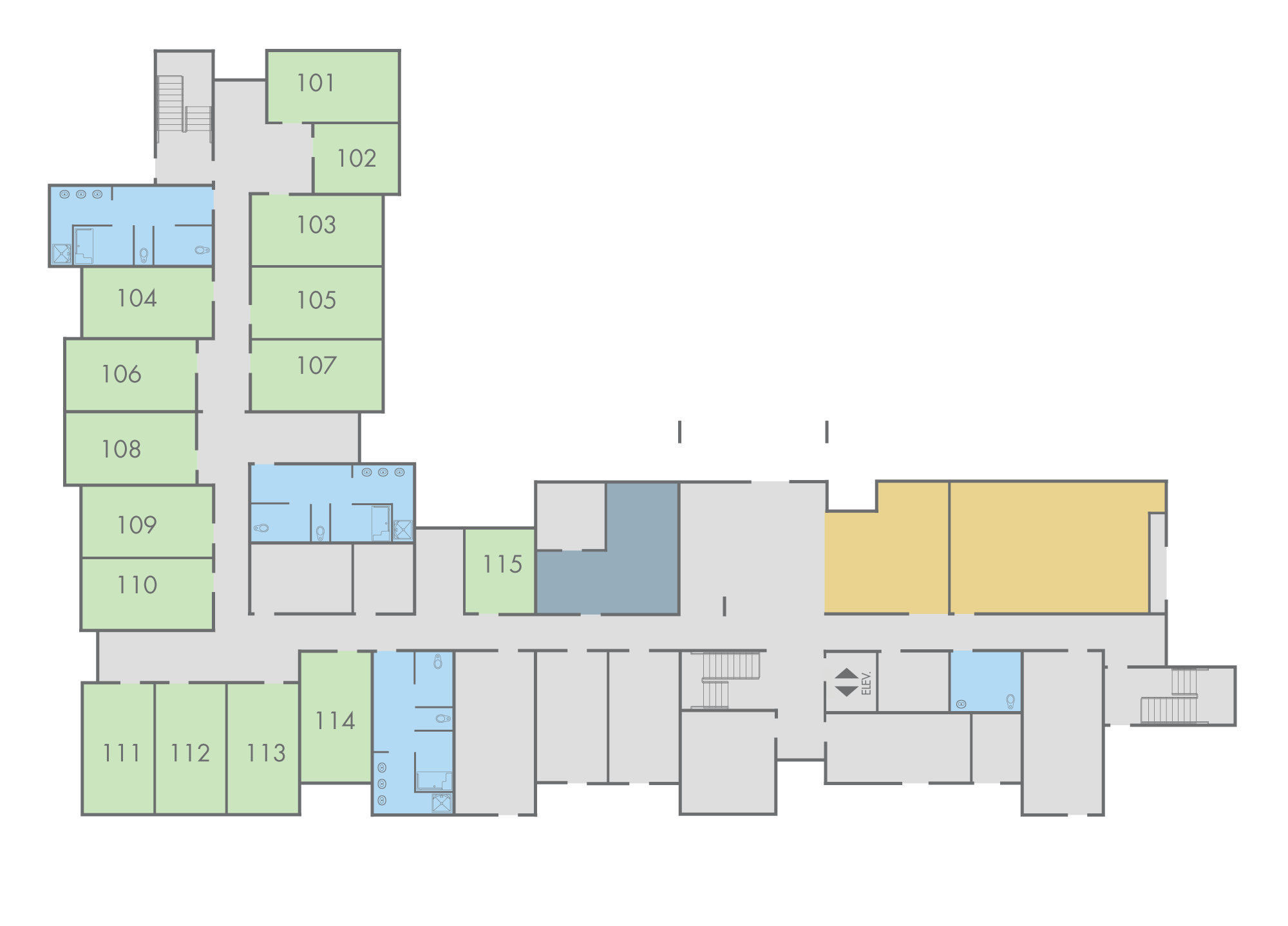 Floor Plan: Mahogany Hall, First Floor