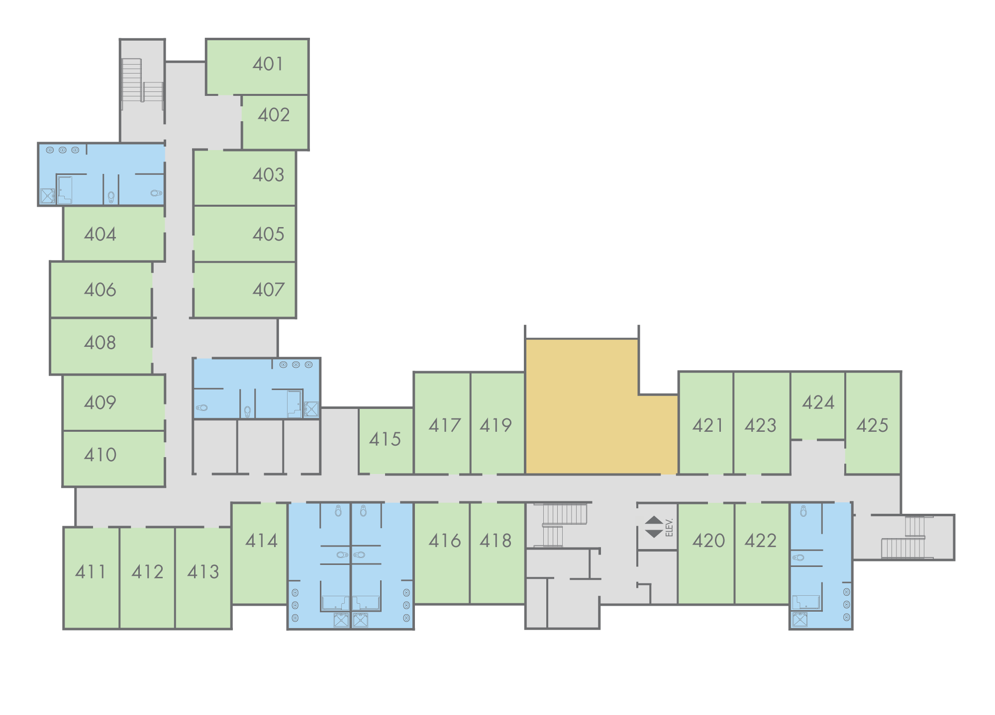 Floor Plan: Mahogany Hall, Fourth Floor