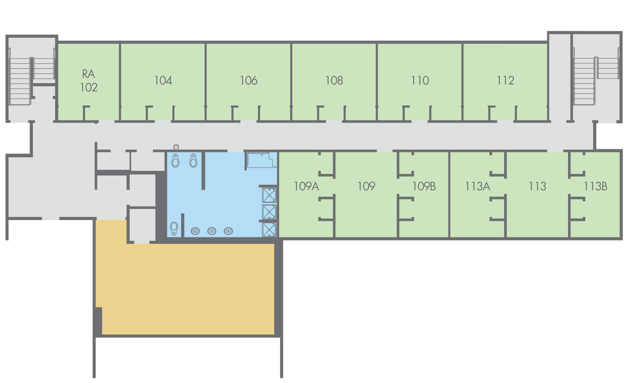 Floor Plan: Regan Hall, Paloma Building, First Floor