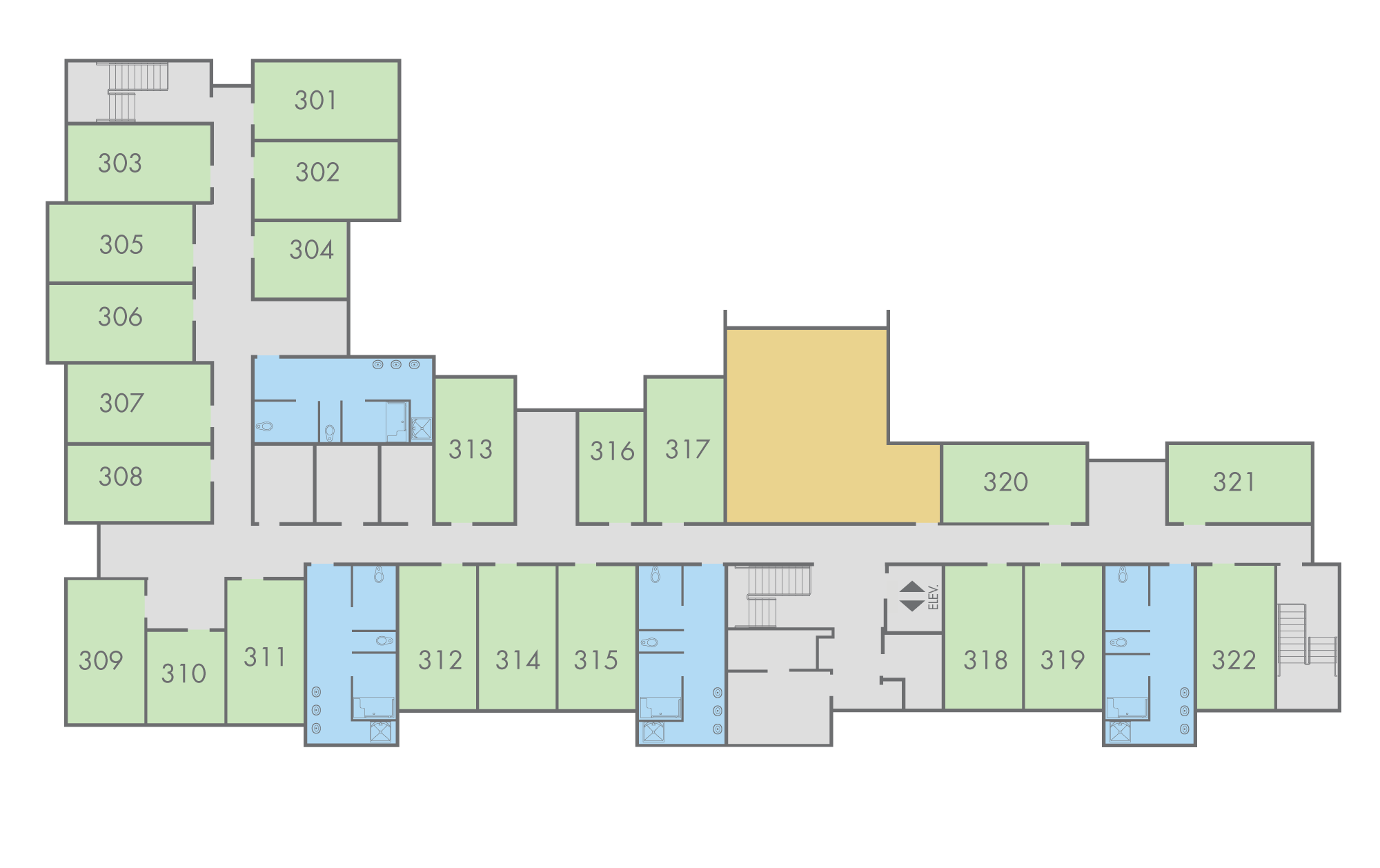 Floor Plan: Pine Hall, Third Floor