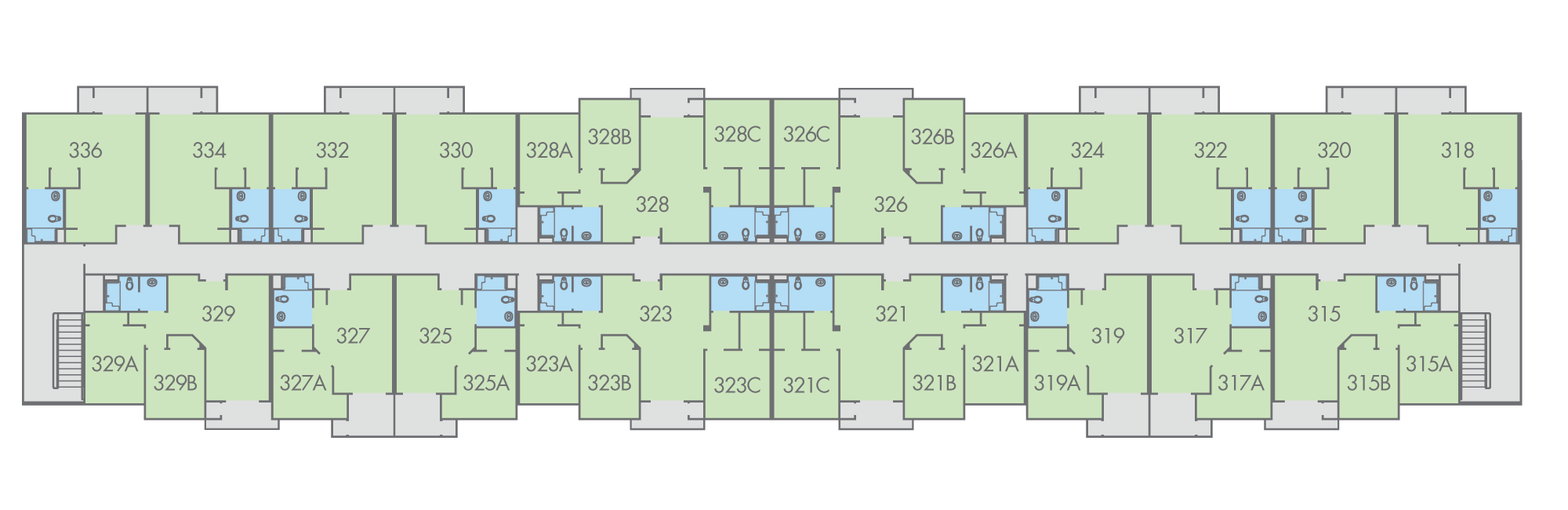 Floor Plan: Primero Grove, Laurel Building, Third Floor