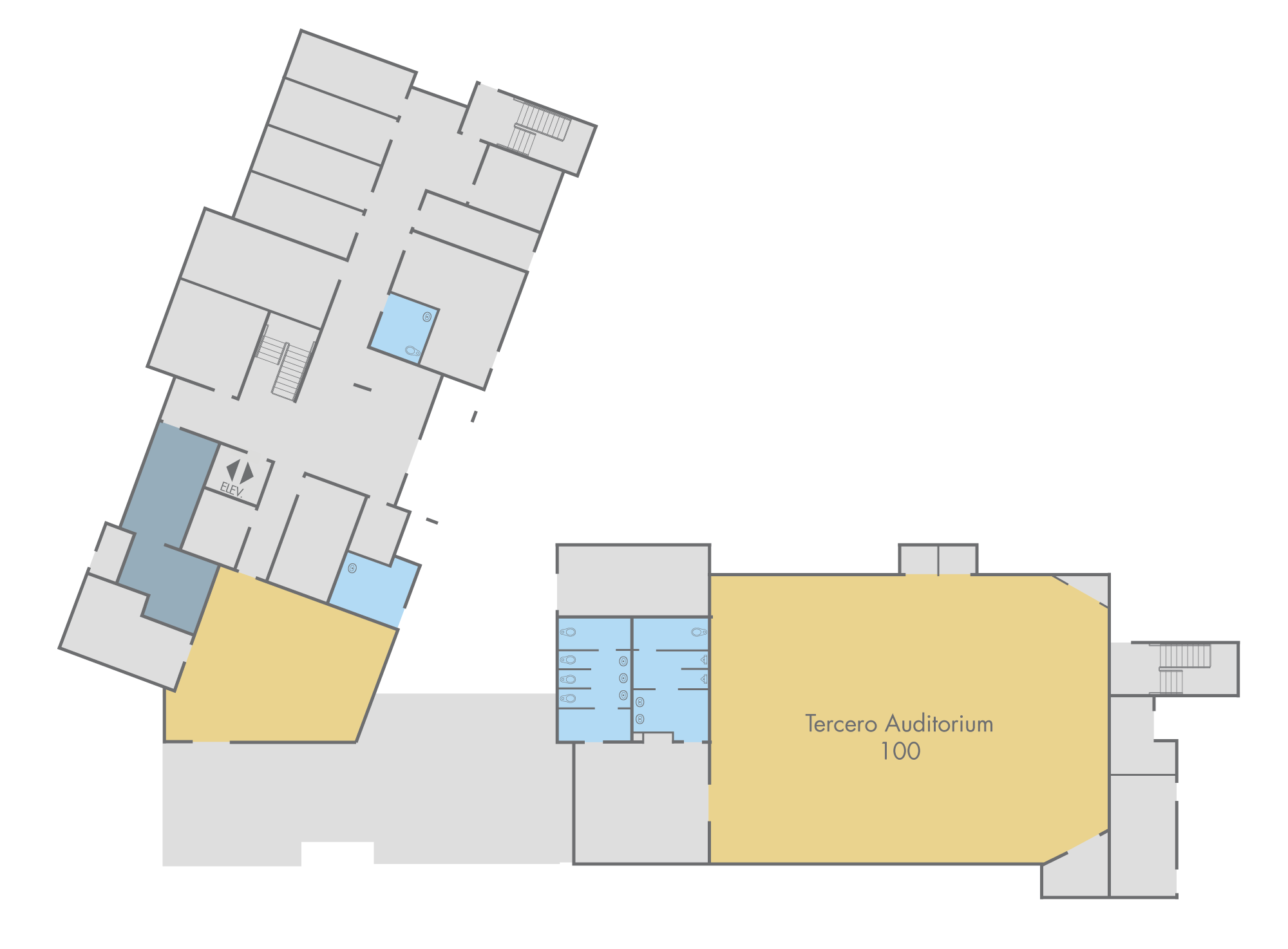 Floor Plan: Scrub Oak Hall, First Floor