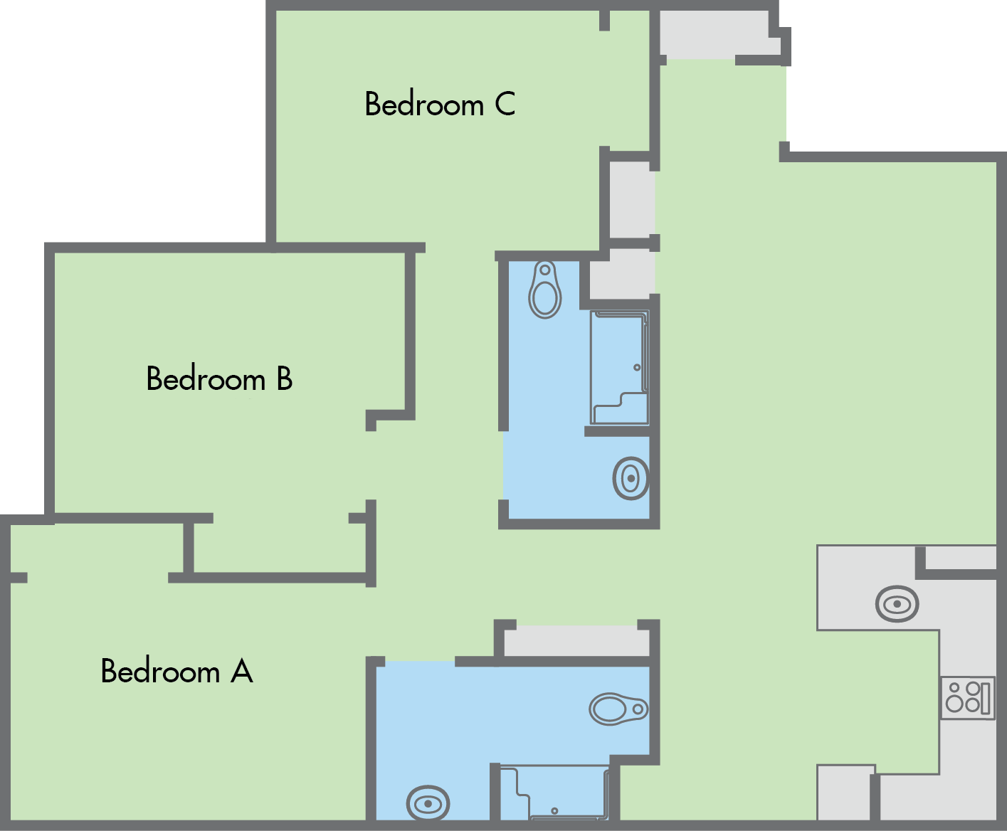 The Colleges 3 Bedroom 2 Bathroom Apartment