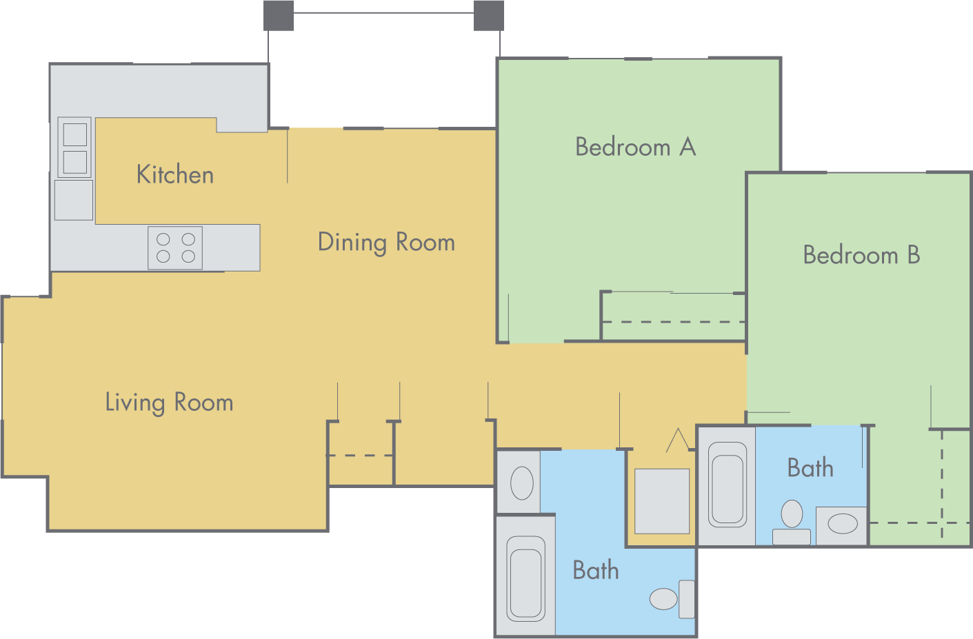 The lexington floor plan 2 bedroom 2 bathroom flat 2 bedroom flat plans