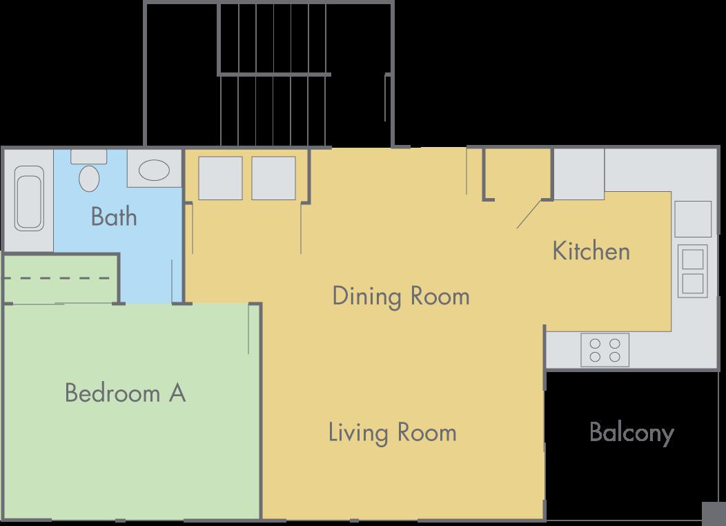 The Lexington Floor Plan 3 Bedroom 3 Bathroom Townhouse