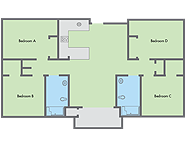 Graphic: Primero Grove 4 bedroom floor plan