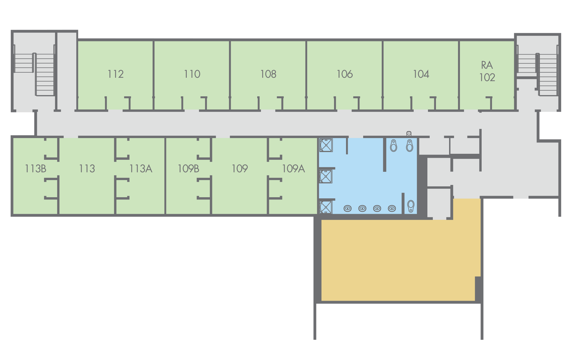 Floor Plan: Regan Hall, Talara Building, First Floor