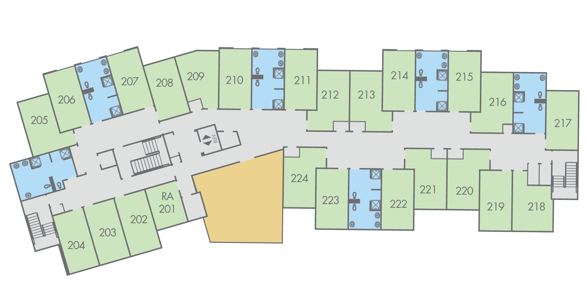 Floor Plan: Thompson Hall, Second Floor