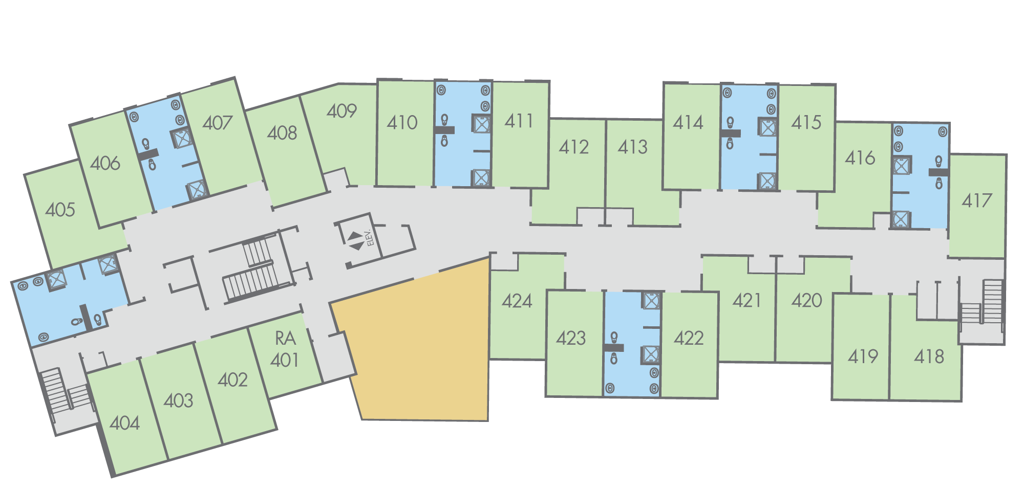 Floor Plan: Thompson Hall, Fourth Floor