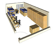 Graphic: Triple Occupancy 3-D room rendering