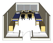 Graphic: Double occupancy 3-D room rendering
