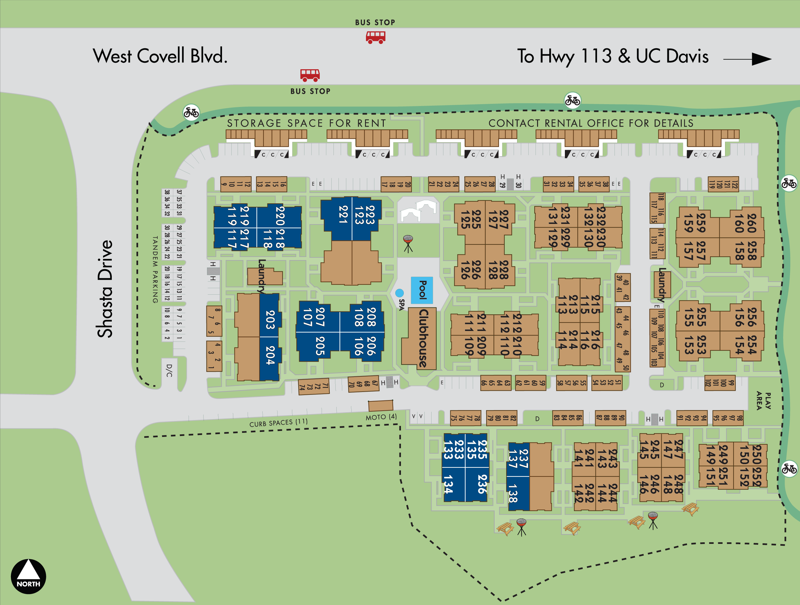 Map of Adobe Apartments