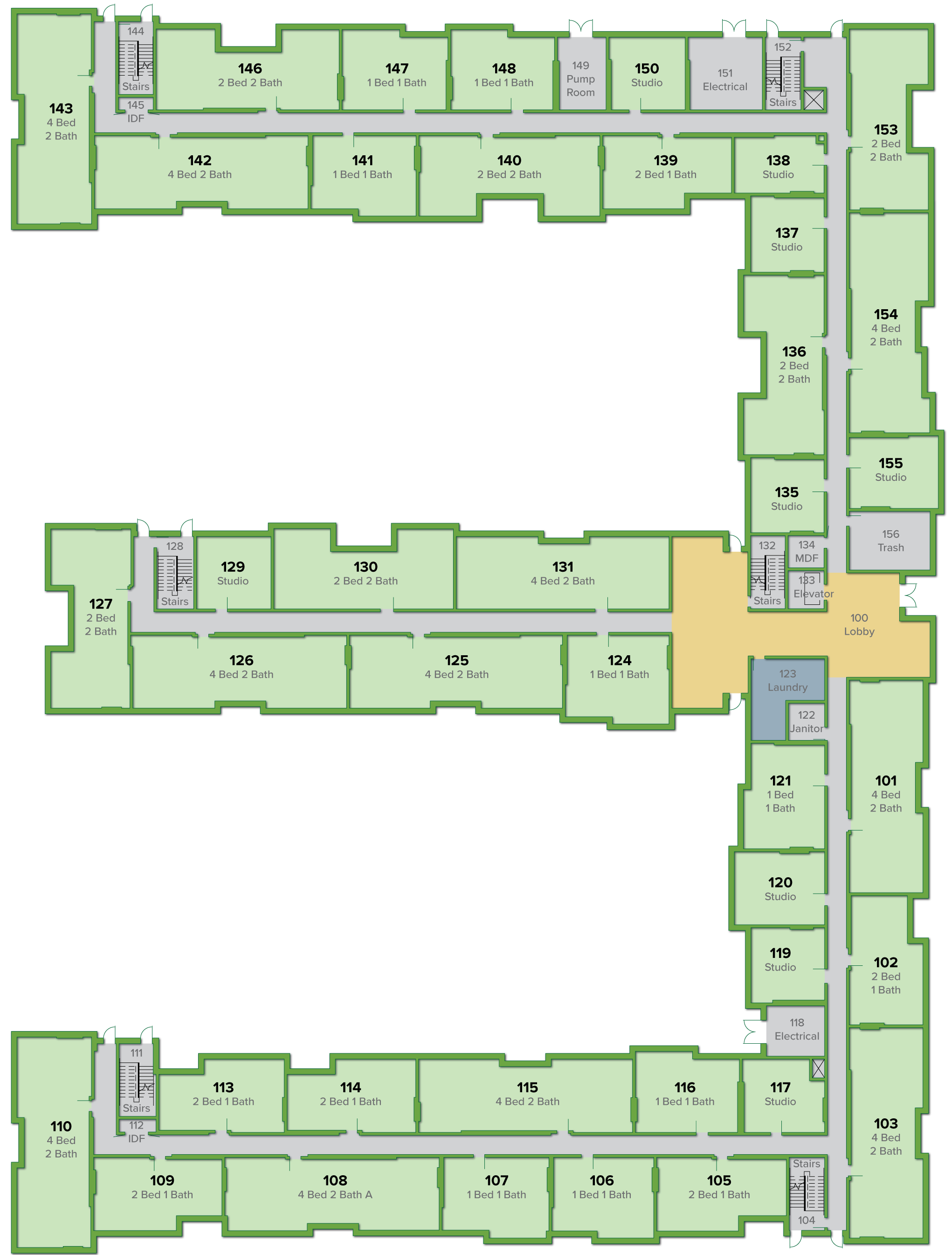 E2 Building, First Floor