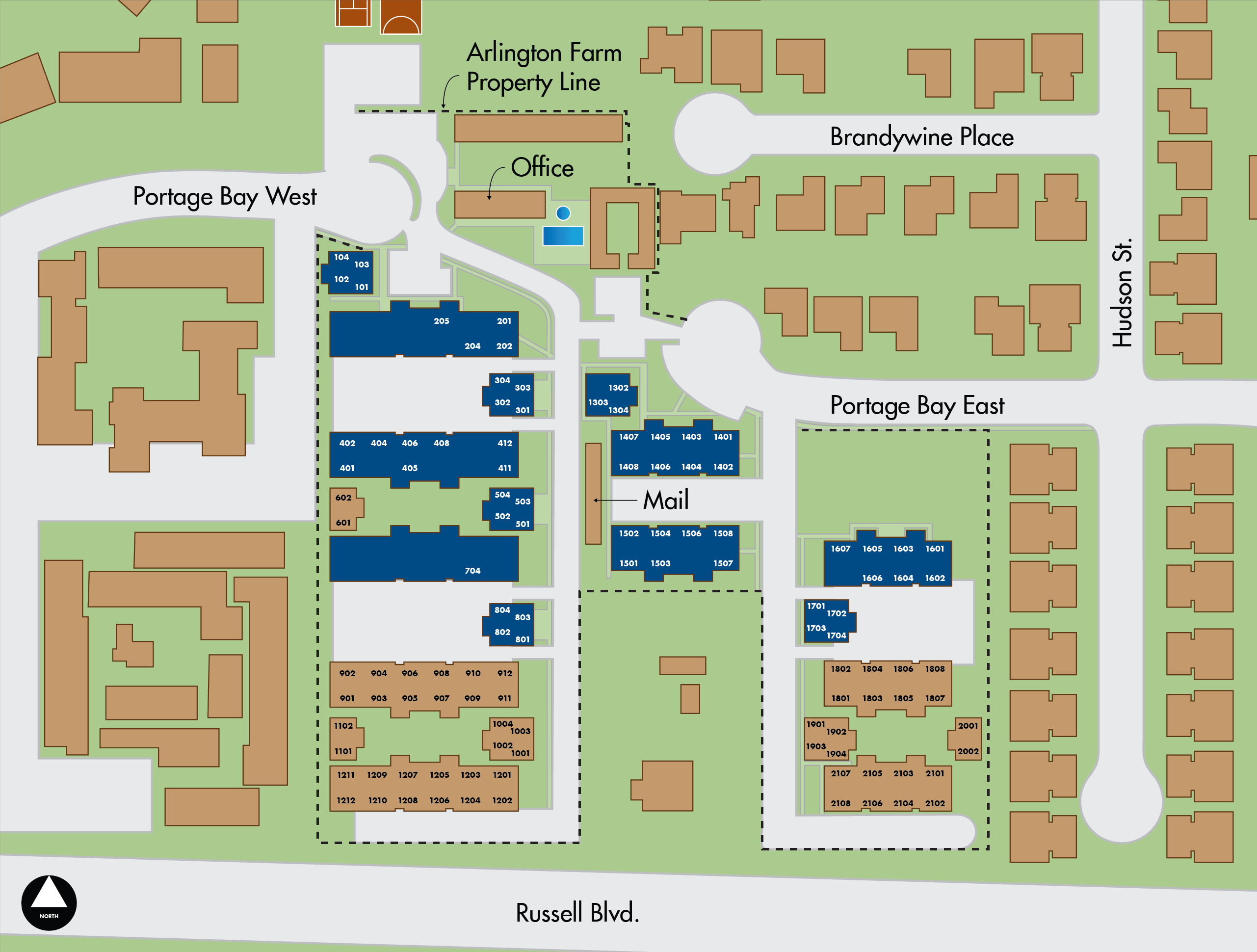 Map of Arlington Farm apartments