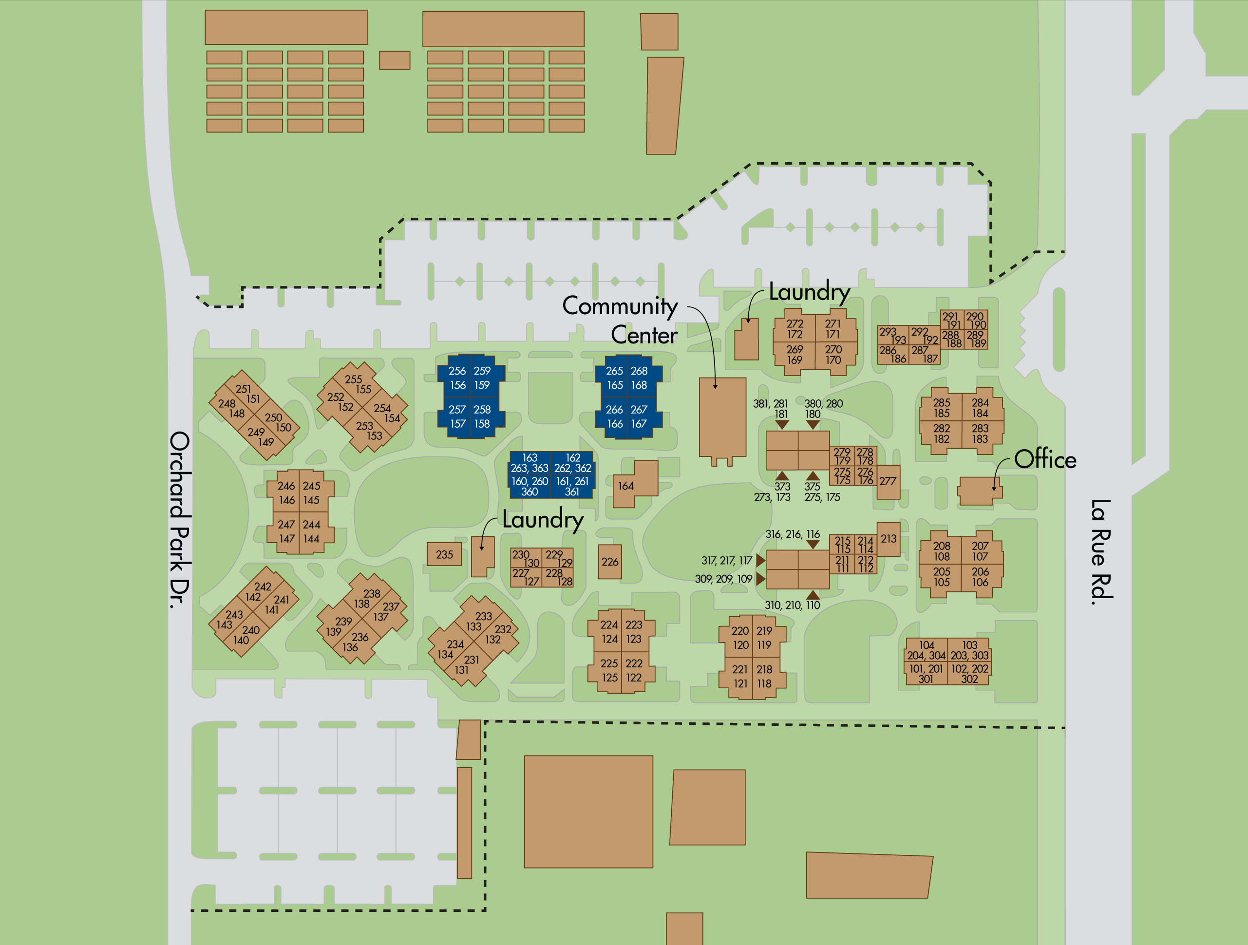 Map of The Colleges apartments
