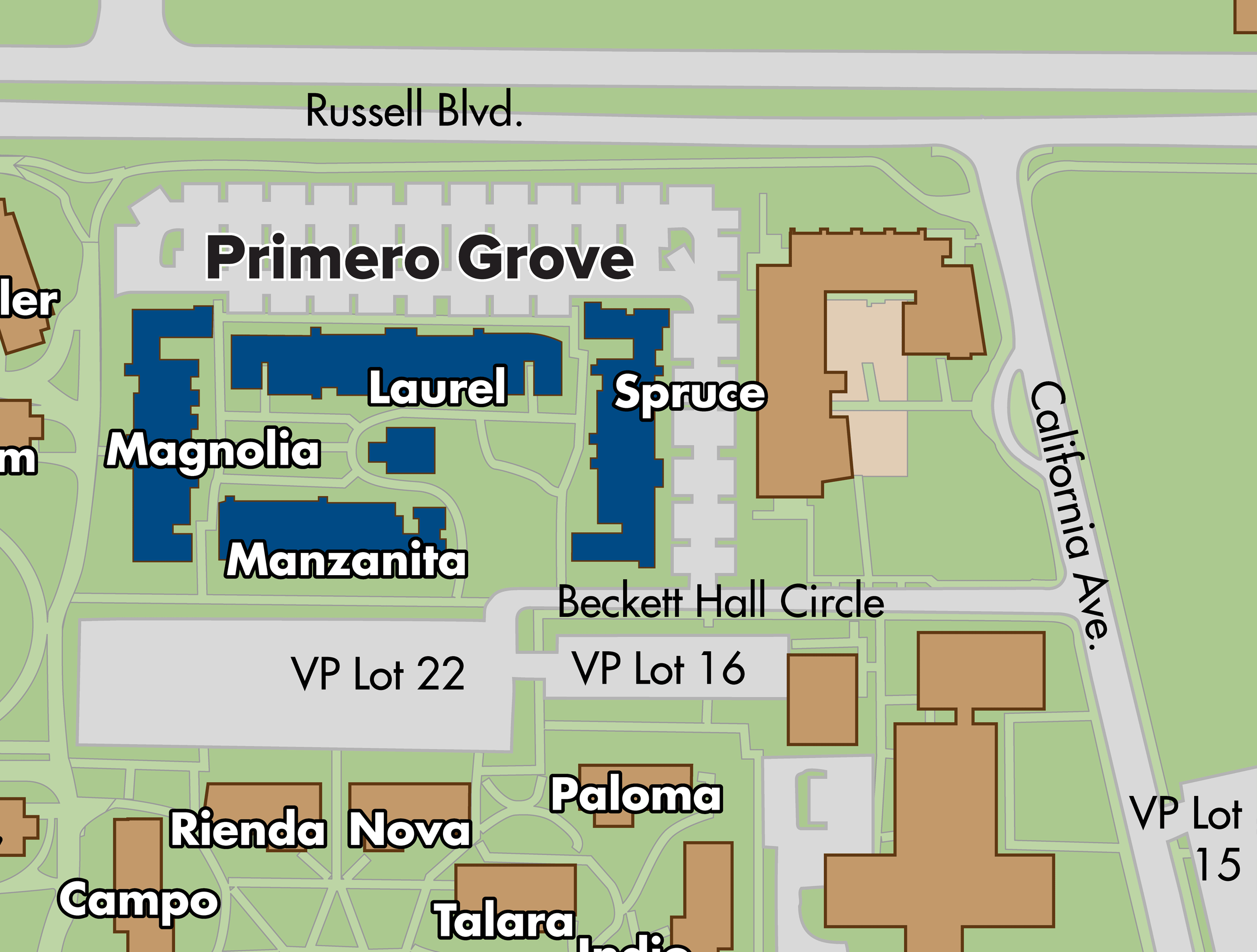 Map of Primero Grove apartments