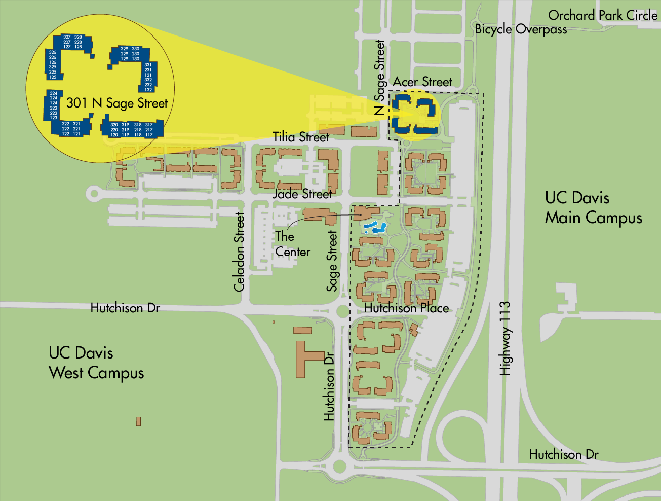 Map of the Ramble at West Village apartments