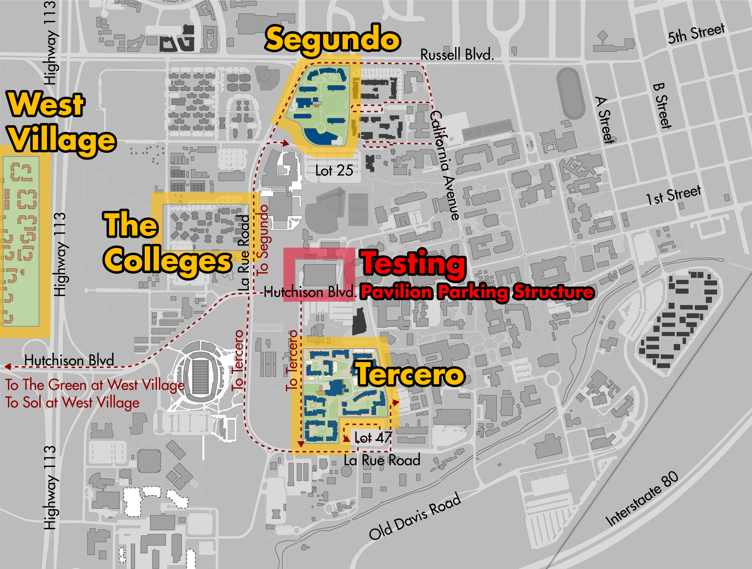 COVID-19 testing location for fall quarter 2020