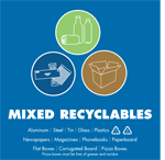 Mixed recyclables plus cardboard
